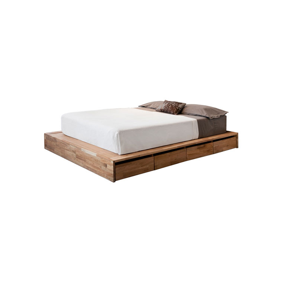 Modern minimalist bed frame wooden works jepara for Best minimalist bed frame