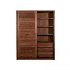 walnut teak wardrobe wooden works jepara
