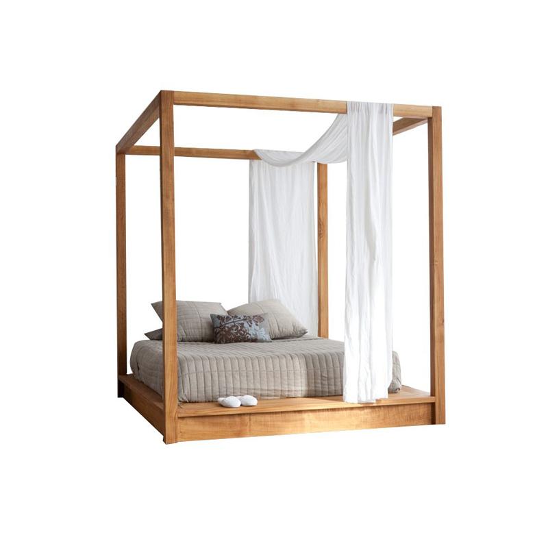 Modern Teak Bed Frame 2 Wooden Works