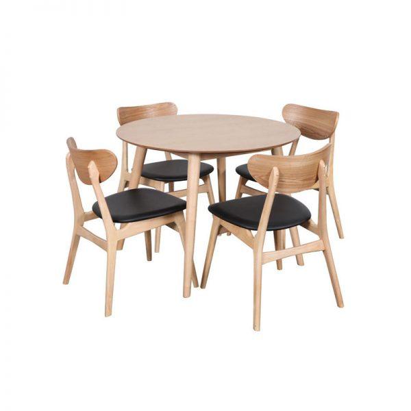 Modern Oslo Round Table Set