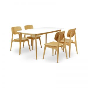 white_scandinavian_dining_set