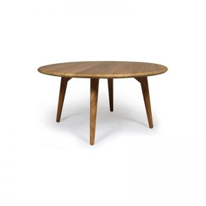 Modern Teak Round Table, modern dining table