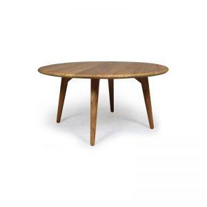 Modern Teak Round Table, modern dining table