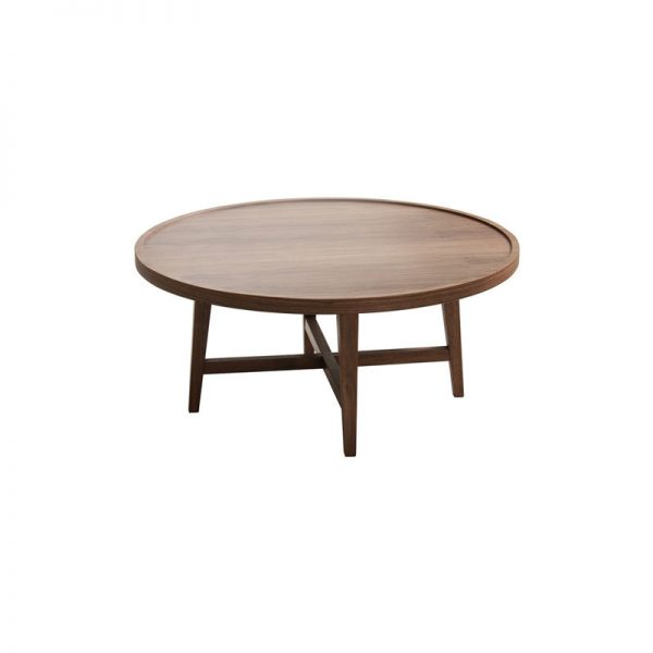 Modern Teak Round Coffee Table