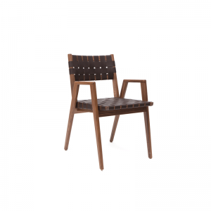 black_woven_dining_chair
